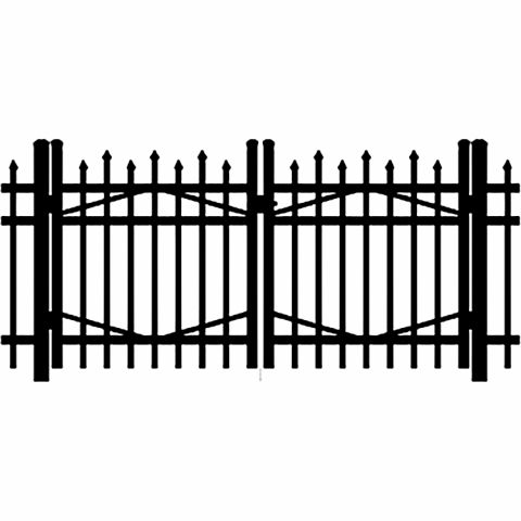 Jerith Industrial #100 Aluminum Double Swing Gate