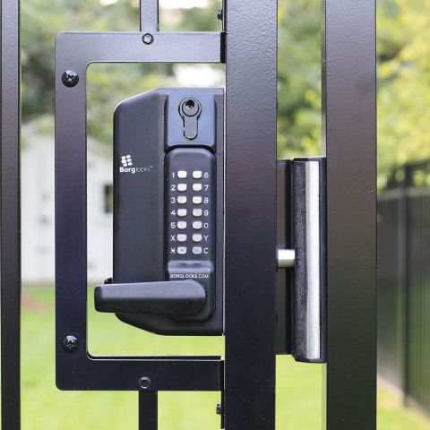 Borglocks Keypad Combination Lock for Metal Swing Gates - Choice of Single or Dual Sided Security
