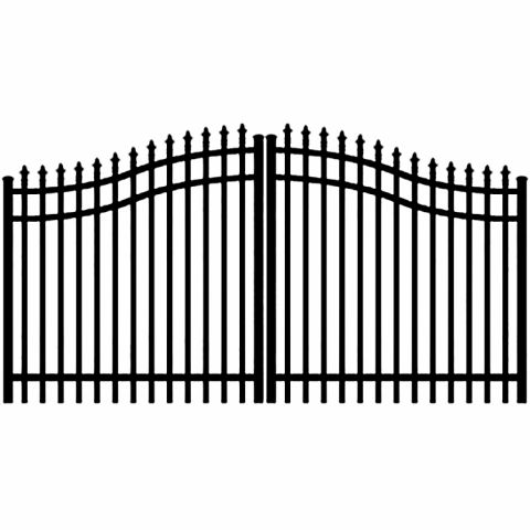 Jerith Aluminum Double Swing Estate Gate Style #111 w/Finials