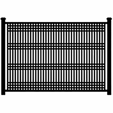 Jerith Patriot Steel Fence Section - 6ga Vertical