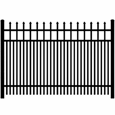 Ideal Maine #203 Double Picket Aluminum Fence Section