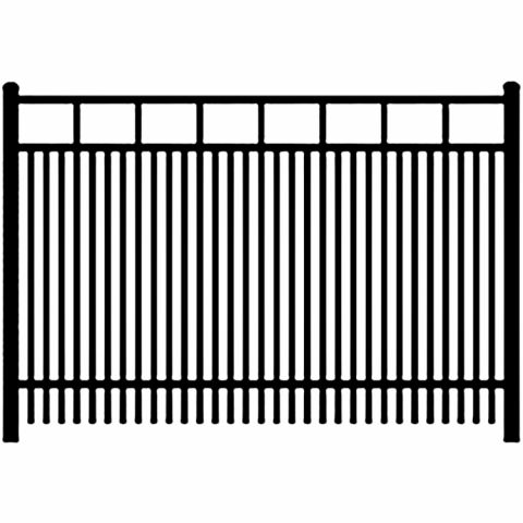 Ideal Carolina #403 Double Picket Aluminum Fence Section