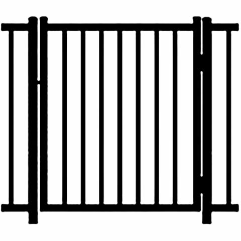 Ideal Alamo #400 Aluminum Single Swing Gate - Standard