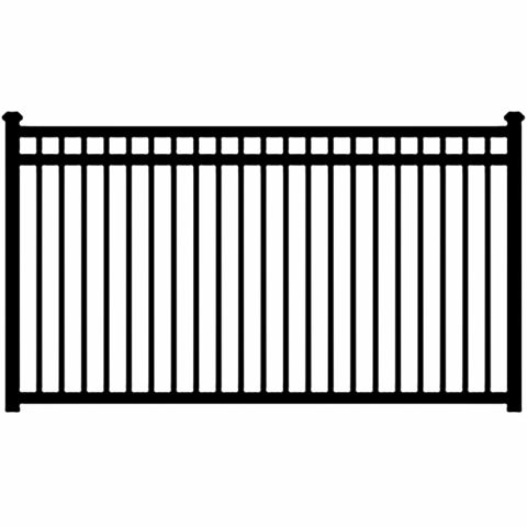 Ameristar Montage Majestic Steel Fence Section, 3-Rail, Flush Bottom