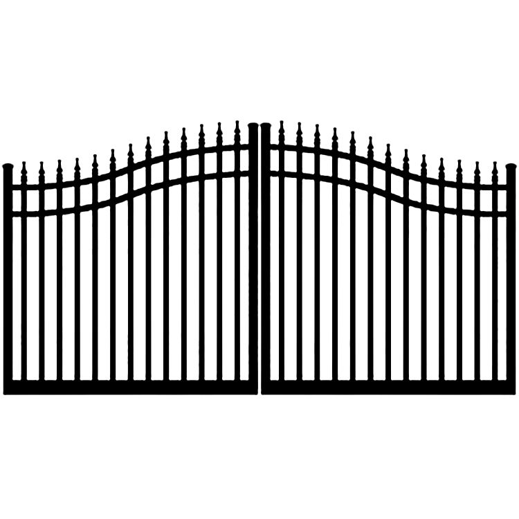 Ideal #8630 Aluminum Double Swing Estate Gate