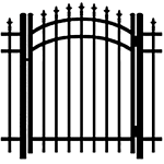 Ideal Finials #6003 Aluminum Arched Walk Gate (IX-FINIALS-600-AG)