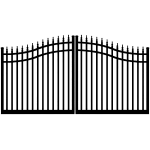 Ideal #8630 Aluminum Double Swing Estate Gate (IXE-8630)