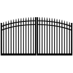 Ideal #8610 Aluminum Double Swing Estate Gate (IXE-8610)
