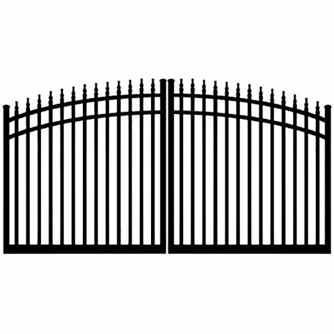 Ideal #8610 Aluminum Double Swing Estate Gate