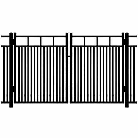 Ideal Carolina #403MD Aluminum Double Swing Gate - Modified Double Picket