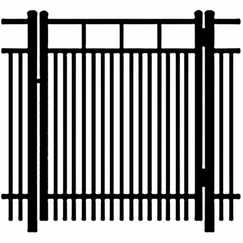 Ideal Carolina #403D Aluminum Single Swing Gate - Double Picket