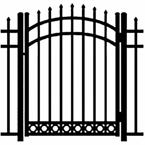 Ideal Maine #2035 Aluminum Arched Walk Gate - Bottom Rings