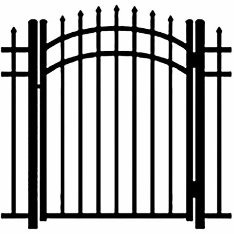 Ideal Maine #2034 Aluminum Arched Walk Gate