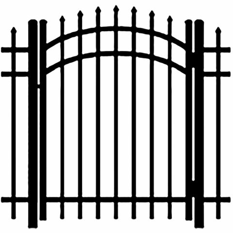 Ideal Maine #2033 Aluminum Arched Walk Gate
