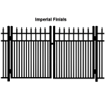 Ideal Finials #600MD Aluminum Double Swing Gate - Modified Double Picket (IX-FINIALS-600MD-DG)