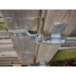 Snug Cottage Hardware 8305-S Heavy Duty Cranked Strap Hinge Hardware Sets - Pin Detail Top Down View