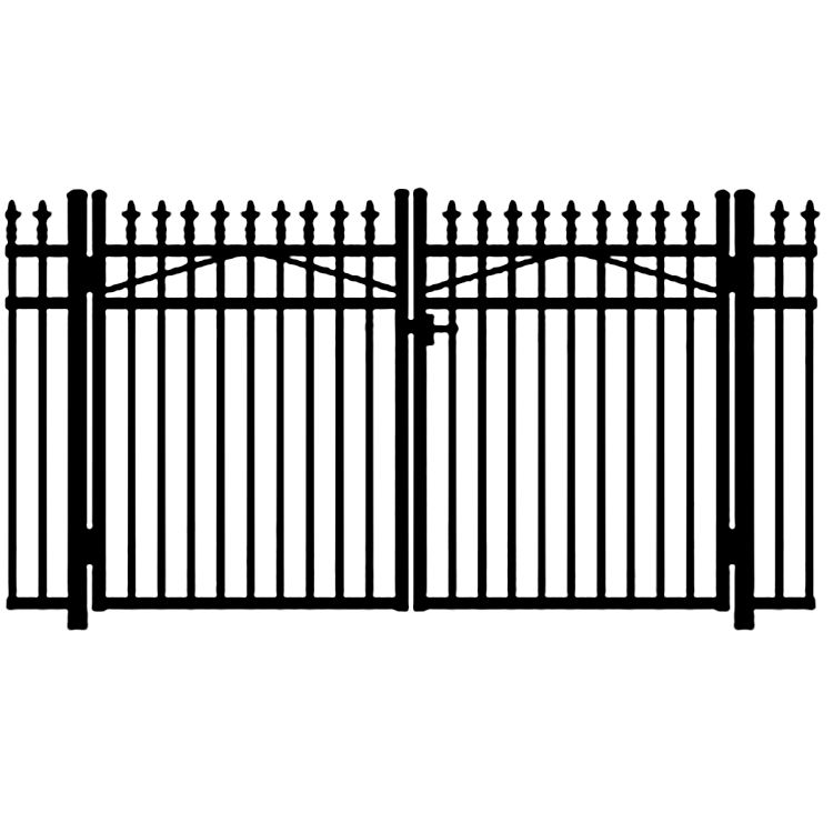 Jerith Legacy #111 Modified Aluminum Double Swing Gate w/Finials