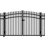 Jerith #111M w/Finials Aluminum Rainbow Double Gate - Modified (JX-111M-RG)