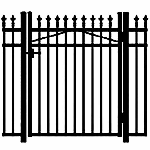 Jerith Legacy #111 Modified Aluminum Single Swing Gate w/Finials