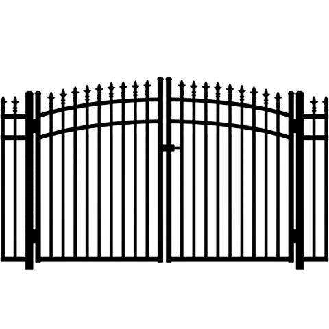 Jerith Legacy #111 Modified Aluminum Rainbow Double Gate w/Finials