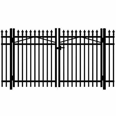 Jerith Legacy #111 Aluminum Double Swing Gate w/Finials