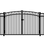 Jerith #211 w/Finials Aluminum Rainbow Double Gate - Modified (JX-211M-RG)