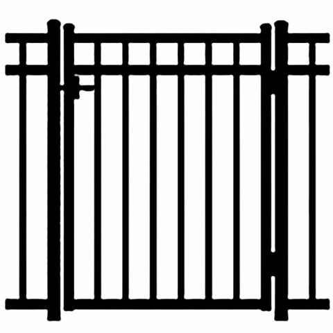Jerith Windsor Aluminum Single Swing Gate