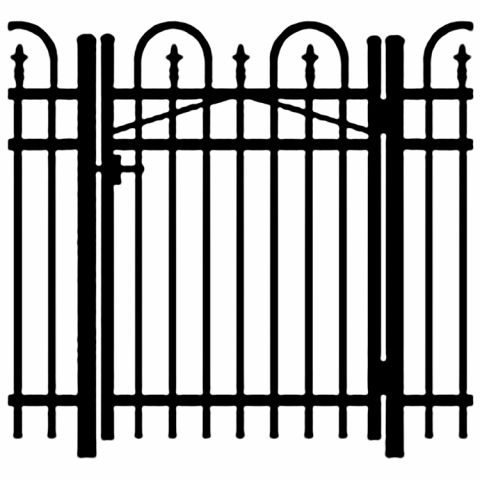 Jerith Legacy Concord #111 Aluminum Single Swing Gate w/Finials