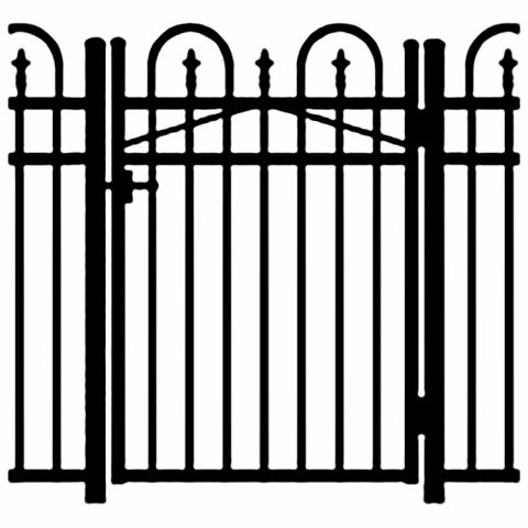 Jerith Legacy Concord #111 Modified Aluminum Single Swing Gate w/Finials