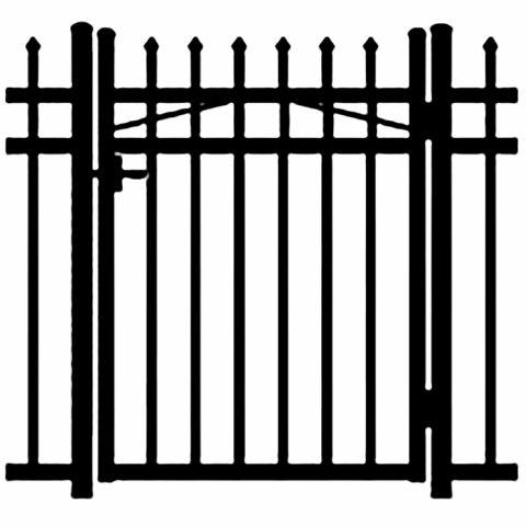 Jerith Buckingham Aluminum Single Swing Gate