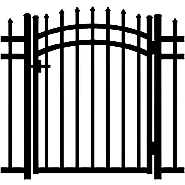 Jerith Buckingham Aluminum Accent Gate
