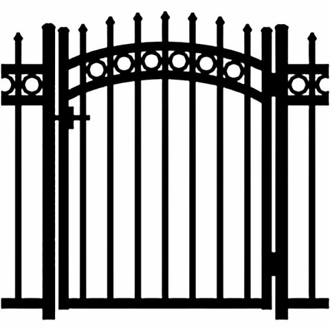Jerith Buckingham Plus Rings Aluminum Accent Gate