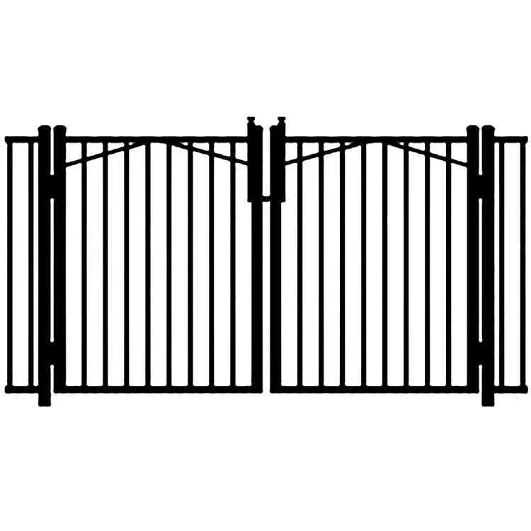 Jerith Ovation Aluminum Double Swing Gate