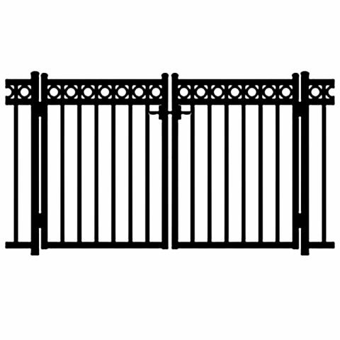 Jerith Windsor Plus Rings Aluminum Double Swing Gate