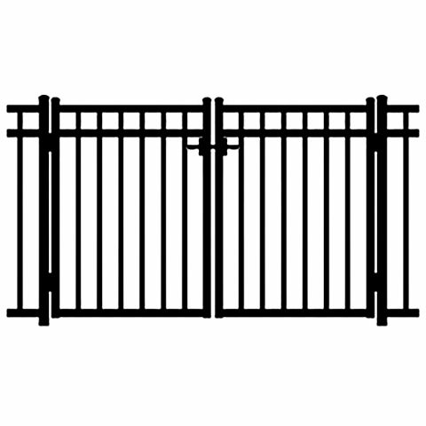 Jerith Windsor Aluminum Double Swing Gate