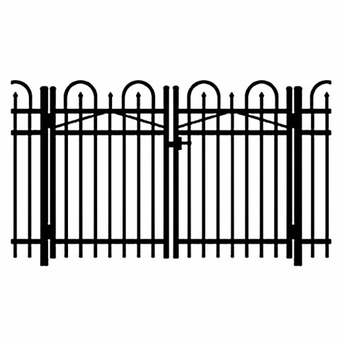 Jerith Legacy Concord #101 Aluminum Double Swing Gate