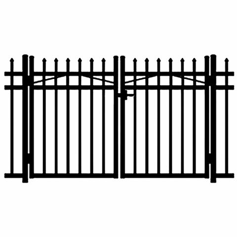 Jerith Buckingham Aluminum Double Swing Gate
