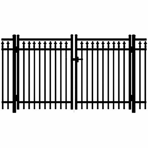 Jerith Legacy #211 Aluminum Double Swing Gate w/Finials