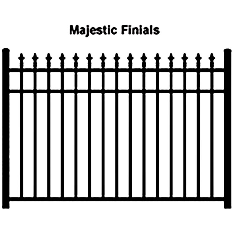 Ideal Finials 600 Modified Aluminum Fence Section