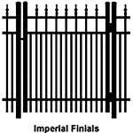 Ideal Finials #600 Aluminum Single Swing Gate - Double Picket (IX-FINIALS-600D-SG)