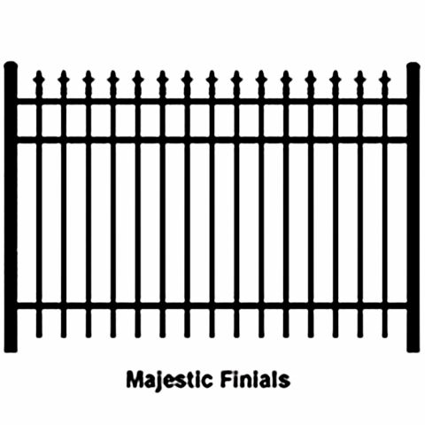 Ideal Finials #600 Aluminum Fence Section