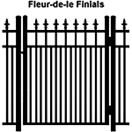 Ideal Finials #600MD Aluminum Single Swing Gate - Modified Double Picket (IX-FINIALS-600MD-SG)