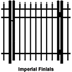 Ideal Finials #600 Aluminum Single Swing Gate - Standard (IX-FINIALS-600-SG)