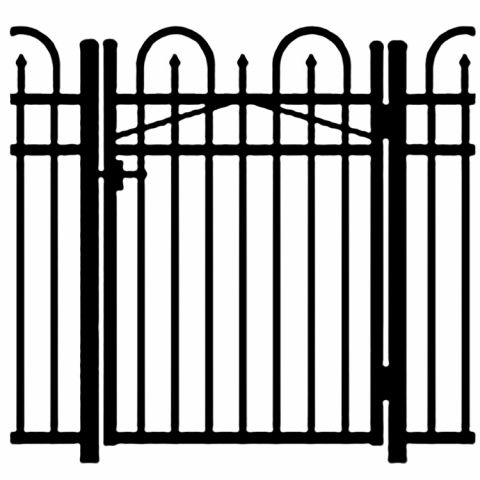 Jerith Legacy Concord #101 Modified Aluminum Single Swing Gate