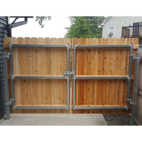 "Hoover Fence Industrial Double Gate Frame - 2"" Galvanized Square"