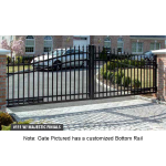 Jerith Aluminum Double Swing Estate Gate Style #111 w/Finials (JXE-111)