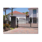 Jerith Legacy #111 Aluminum Fence Section w/Finials (JX-111-S)
