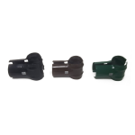 Chain Link Fence End Rail / Gate Brace Clamps - Black, Brown, and Green (CL-END-RAIL-CLAMP-COLOR)