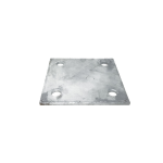 Chain Link Fence Floor Flange - Galvanized Plates - 6