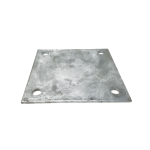 Chain Link Fence Floor Flange - Galvanized Plates - 8